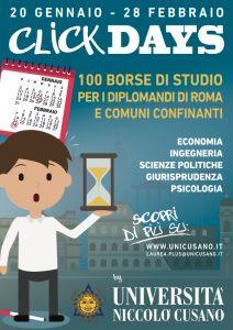 BORSA DI STUDIO 2016 UNIVERSITA' ROMA
